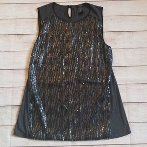 Ann Taylor dressy sequin tank top